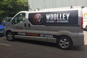 Contrasting van graphics with matt and gloss vinyl makes the branding on this vehicle subtly different Vehicle Signwriting