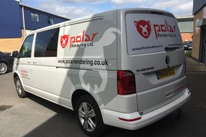 A simplistic design can have large impact, as shown on this van. Signwriting doesn't have to be overcomplicated to ensure visibility. Vehicle Signwriting