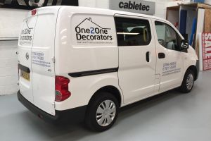 Vehicle signwriting makes your company look extremely professional when arriving to your jobs. Repeat exposure of your brand is key. Vehicle Signwriting