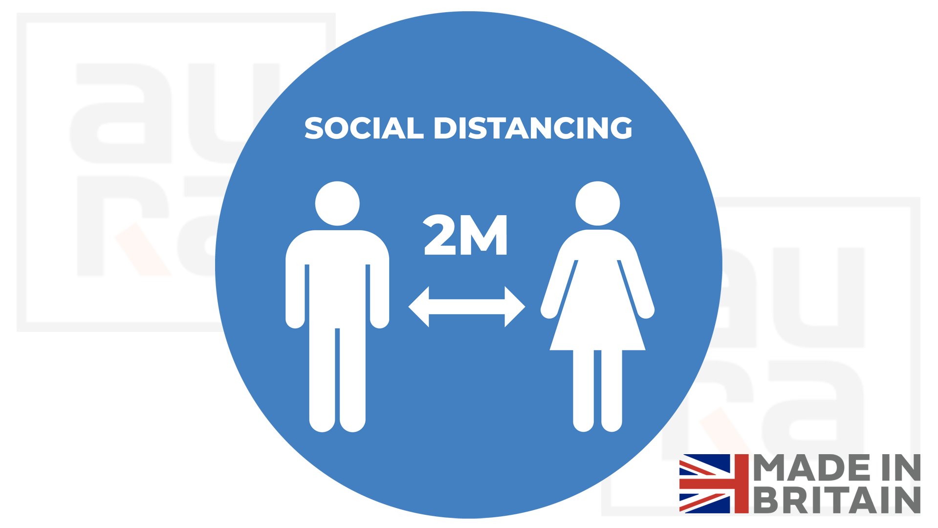 Social distancing covid19 social distance shop floor sticker for business
