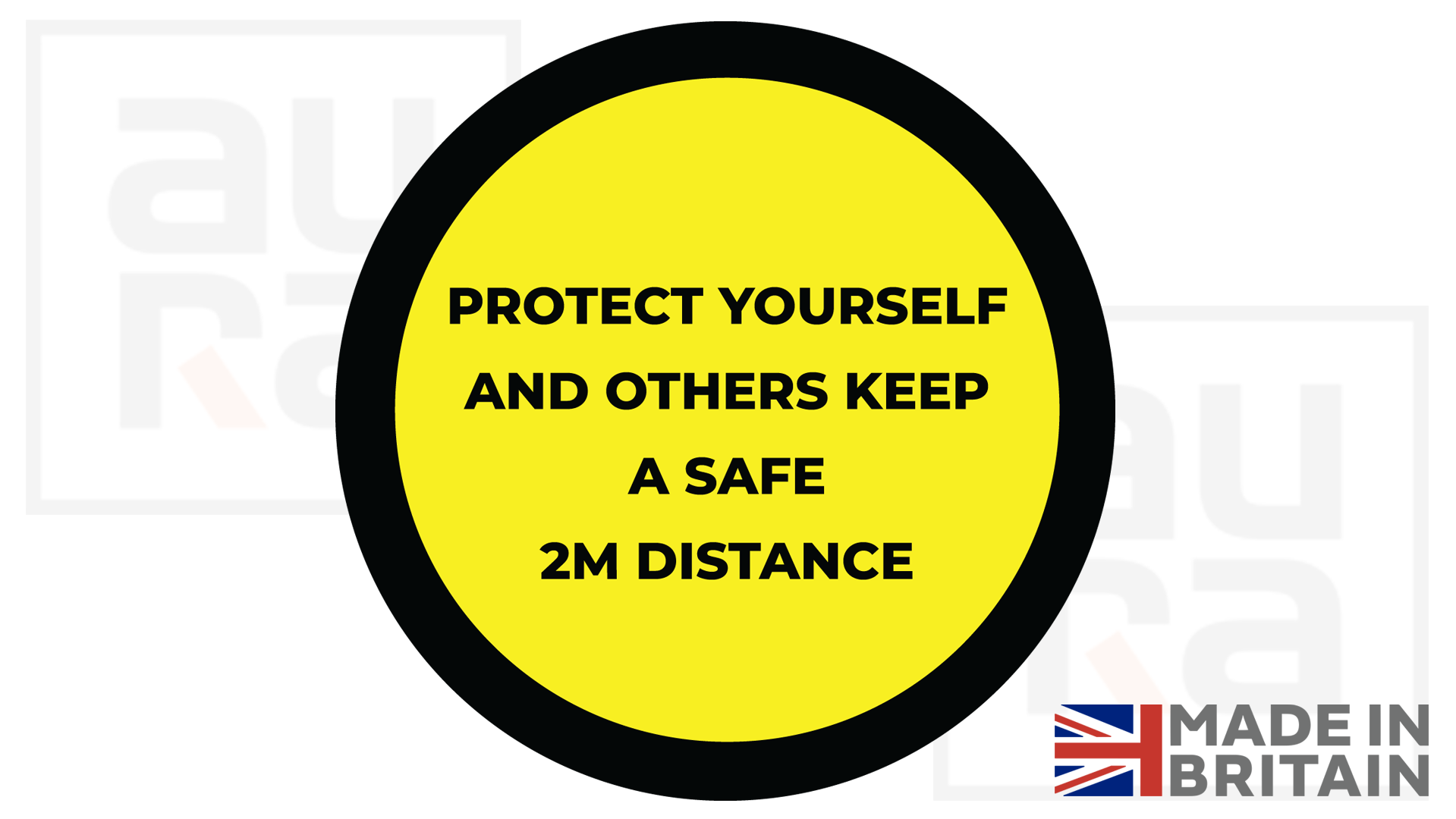 Protect yourself and others covid19 social distance shop floor sticker for business