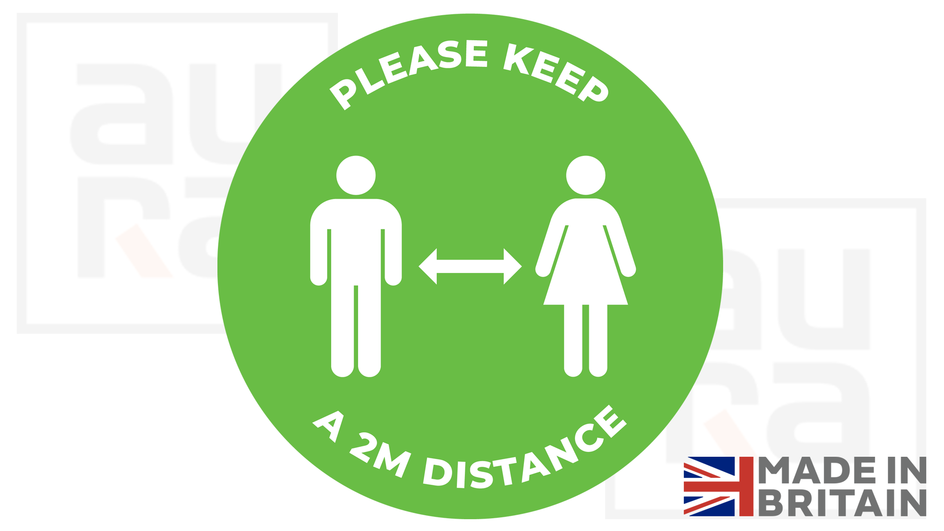 Please keep a 2m distance covid19 social distance shop floor sticker for business