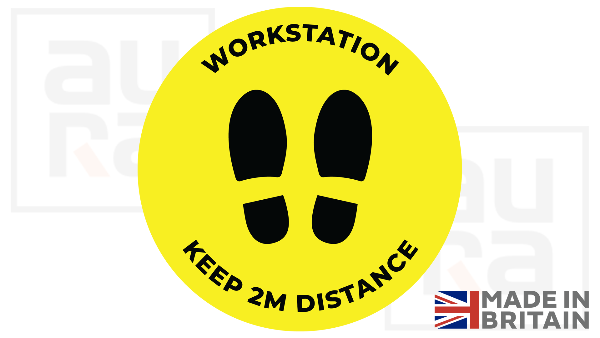 workstation covid19 shop floor sticker for business